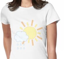 Cloud & Sun Womens Fitted T-Shirt