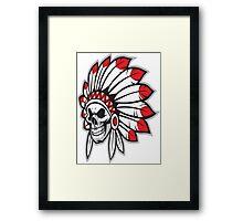 indian (skull) Framed Print
