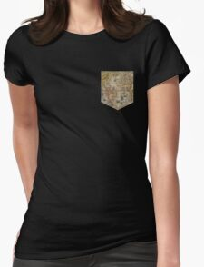 Map tee  Womens Fitted T-Shirt