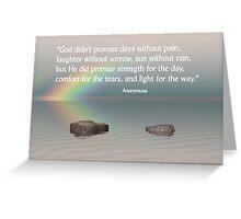 Sorrow and Comfort Greeting Card