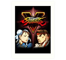 Street Fighter - Chun-li & Ryu Art Print