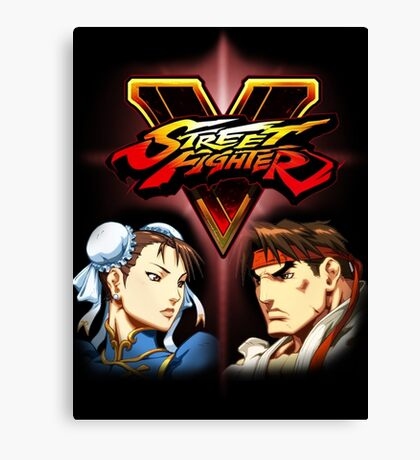 Street Fighter - Chun-li & Ryu Canvas Print