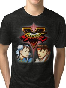 Street Fighter - Chun-li & Ryu Tri-blend T-Shirt
