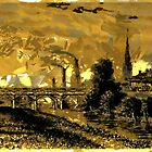 Industrial Revolution - Rotherham Station, Yorkshire,  in 1840 by Dennis Melling