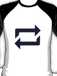 Tumblr Reblog Design Blue T-Shirt