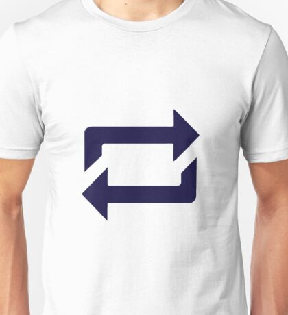 Tumblr Reblog Design Blue Unisex T-Shirt