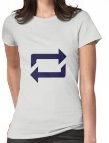 Tumblr Reblog Design Blue Womens Fitted T-Shirt