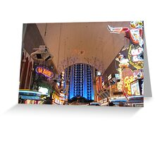 Fremont Street Experience Greeting Card
