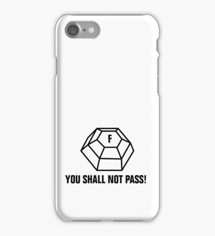 You shall not pass - ForceField iPhone Case/Skin