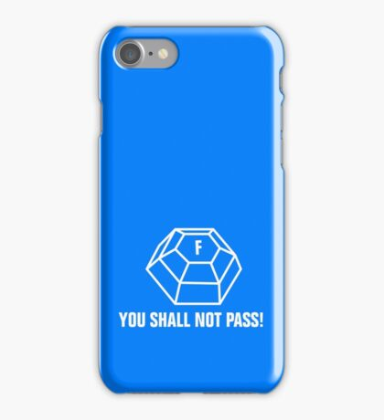 You shall not pass - ForceField white iPhone Case/Skin