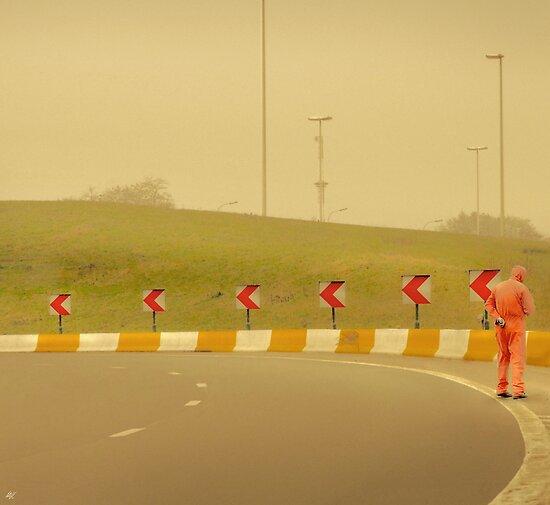 Belgium Highway Man by Paul Vanzella