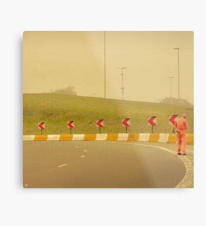 Belgium Highway Man Metal Print