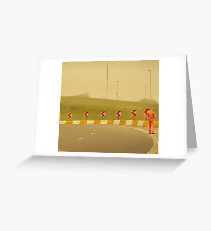 Belgium Highway Man Greeting Card