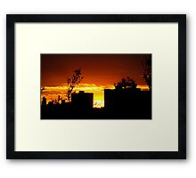 Light the Night on Fire Framed Print