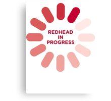redhead v1 Canvas Print