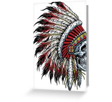 indian (skull) Greeting Card
