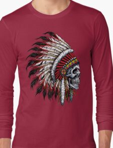 indian (skull) Long Sleeve T-Shirt
