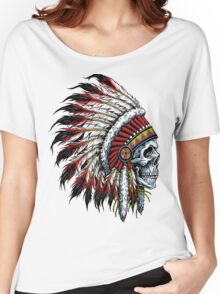 indian (skull) Women's Relaxed Fit T-Shirt