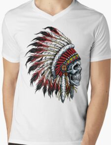 indian (skull) Mens V-Neck T-Shirt