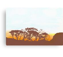 gums at sunset Canvas Print