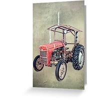 Grey Fergie Tractor  Greeting Card