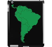 Blank green South America map iPad Case/Skin