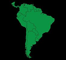 Blank green South America map by jazzydevil