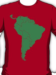 Blank green South America map T-Shirt