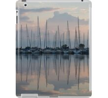 Pastel Sailboats Reflections at Dusk iPad Case/Skin