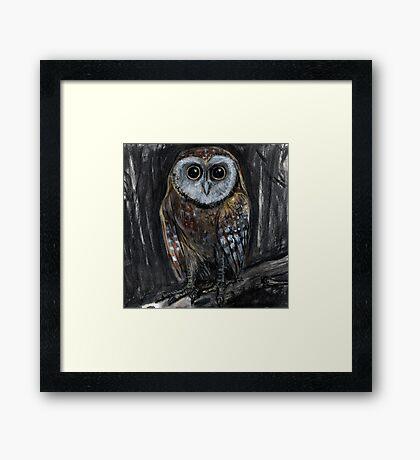 Upright Owl Framed Print