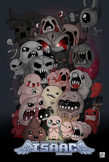 Binding Of Isaac Fan Art Posters By Allanohr Redbubble