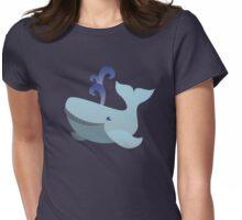 Cute kawaii whale Womens Fitted T-Shirt