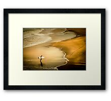 Done Surfing Framed Print