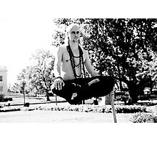 Levitating man (Outside of the White House) Photographic Print