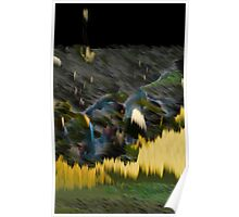 Yellow Electric Landscape Poster