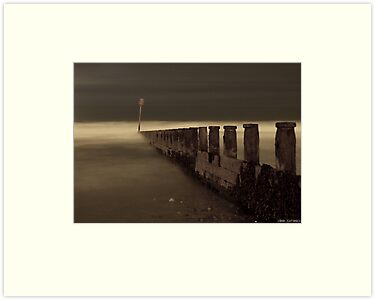 Misty Groynes by Wickerman
