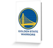 WARRIORS - GOLDEN STATE OF MIND Greeting Card
