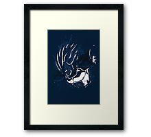 Vegeta explosion Framed Print