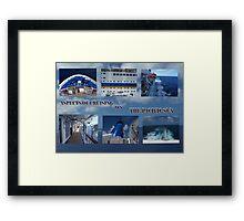 Cruising the Blue  Framed Print