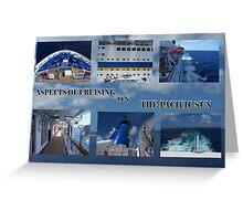 Cruising the Blue  Greeting Card