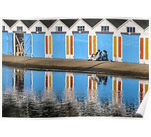 Relaxing at the Boat Sheds Poster
