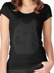 ASCII Doge Women's Fitted Scoop T-Shirt