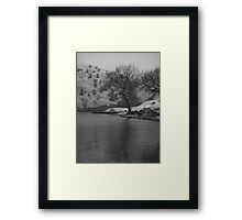 cold day fishing Framed Print