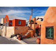 Foinikia village - Santorini island Photographic Print