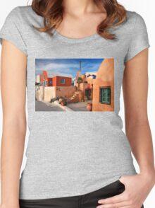 Foinikia village - Santorini island Women's Fitted Scoop T-Shirt