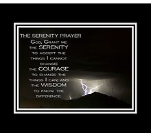 Serenity Midst the Storm Photographic Print