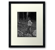 with your best jeans on ....  Framed Print
