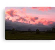 Sunset at Castlerigg Canvas Print