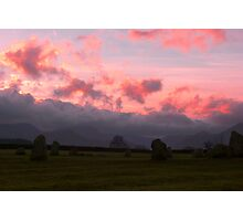 Sunset at Castlerigg Photographic Print