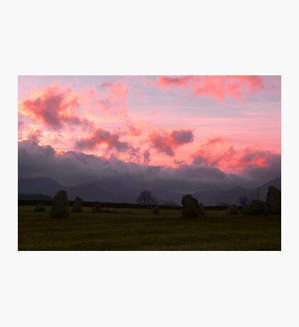 Sunset at Castlerigg Photographic Print